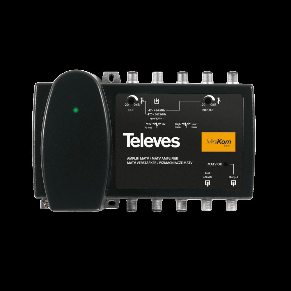 Televes MiniKom F line broadband multiband amplifier