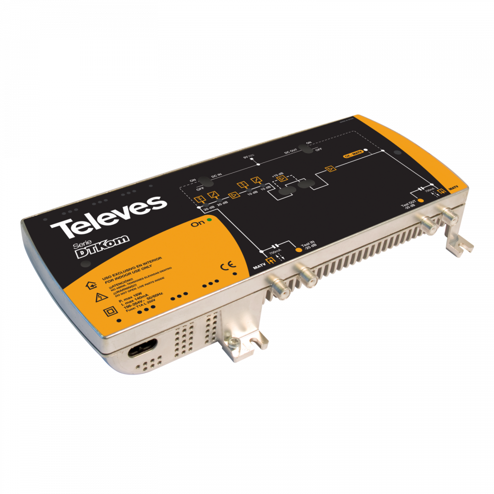 Televes DTKom line broadband multiband amplifier, remotely powered