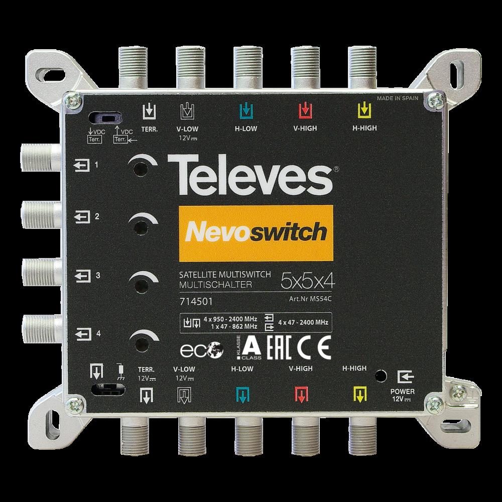 Televes NevoSwitch 5 inputs – 4 outputs