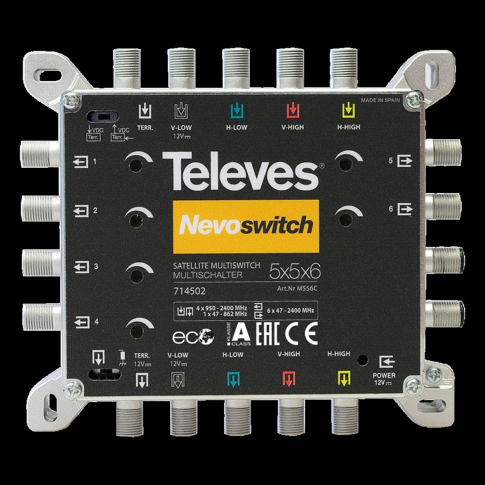 Televes NevoSwitch 5 inputs – 6 outputs