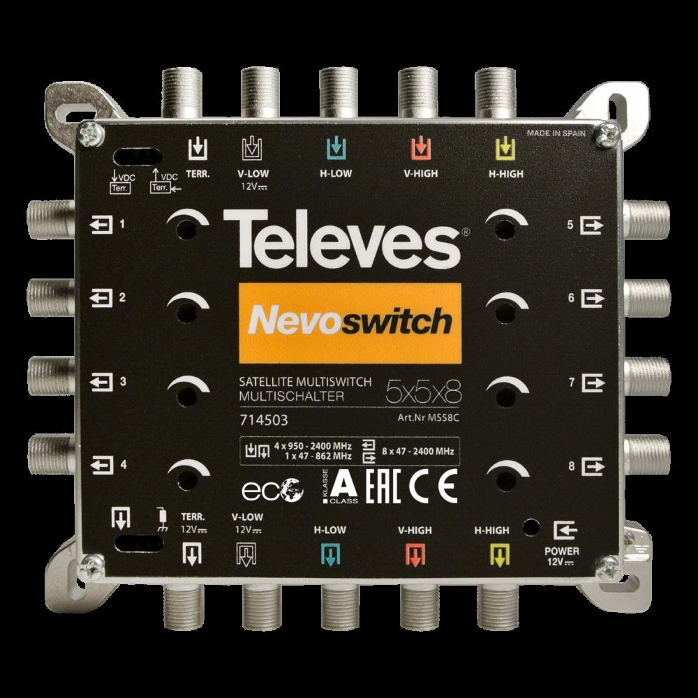 Televes NevoSwitch 5 inputs – 8 outputs