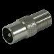 F female-IEC male adapter